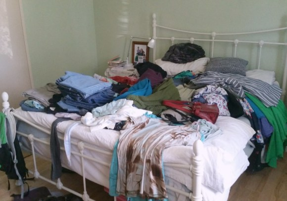 start with decluttering clothing with the konmari method