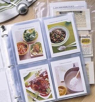 organizar recetas de cocina con un album de fotos