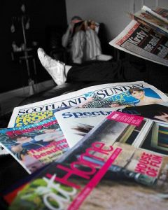 Cómo organizar tus revistas y recortes.