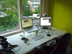 Una oficina en casa: organizada y productiva.