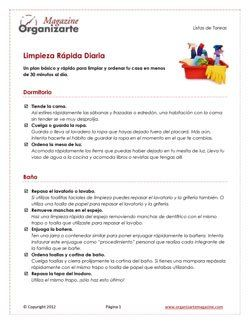 Organizarte_Magazine_Listas_Limpieza_Rapida_COVER