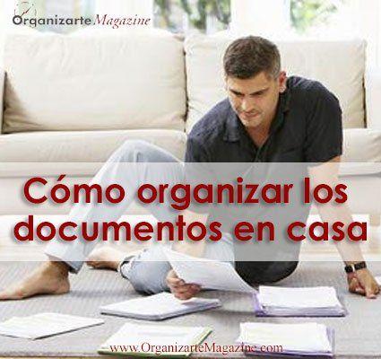 Cómo organizar los documentos en casa