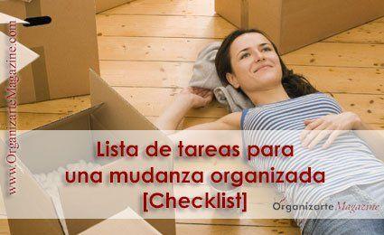 Organizar mudanza: listado de tareas