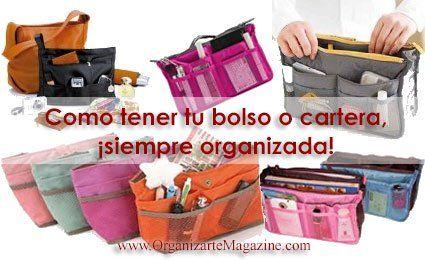 Organizadores de bolsos o carteras