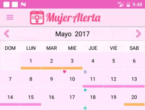 calendario menstrual digital - app