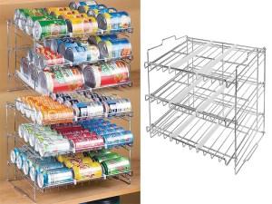 Estante de cocina para latas enlatados hogar