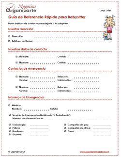 guía de referencia rápida para babysitter o niñera [descarga]