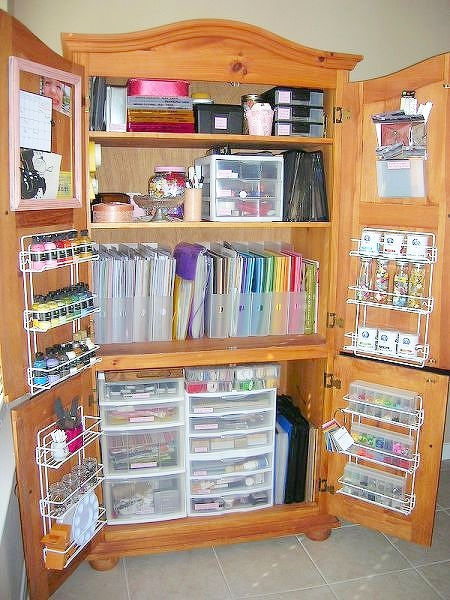 Scrapping Booking Craft Armoire Organize And Inspire