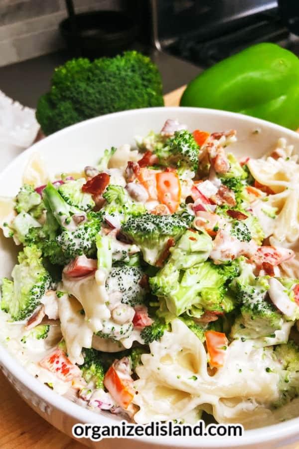 Pepper & Broccoli Pasta Salad