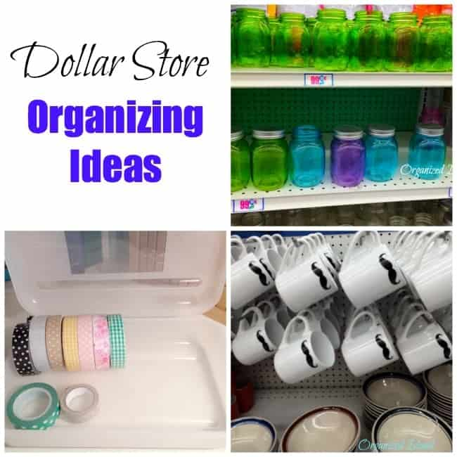Organizing With Dollar Store Items: Inexpensive Organizing Solutions