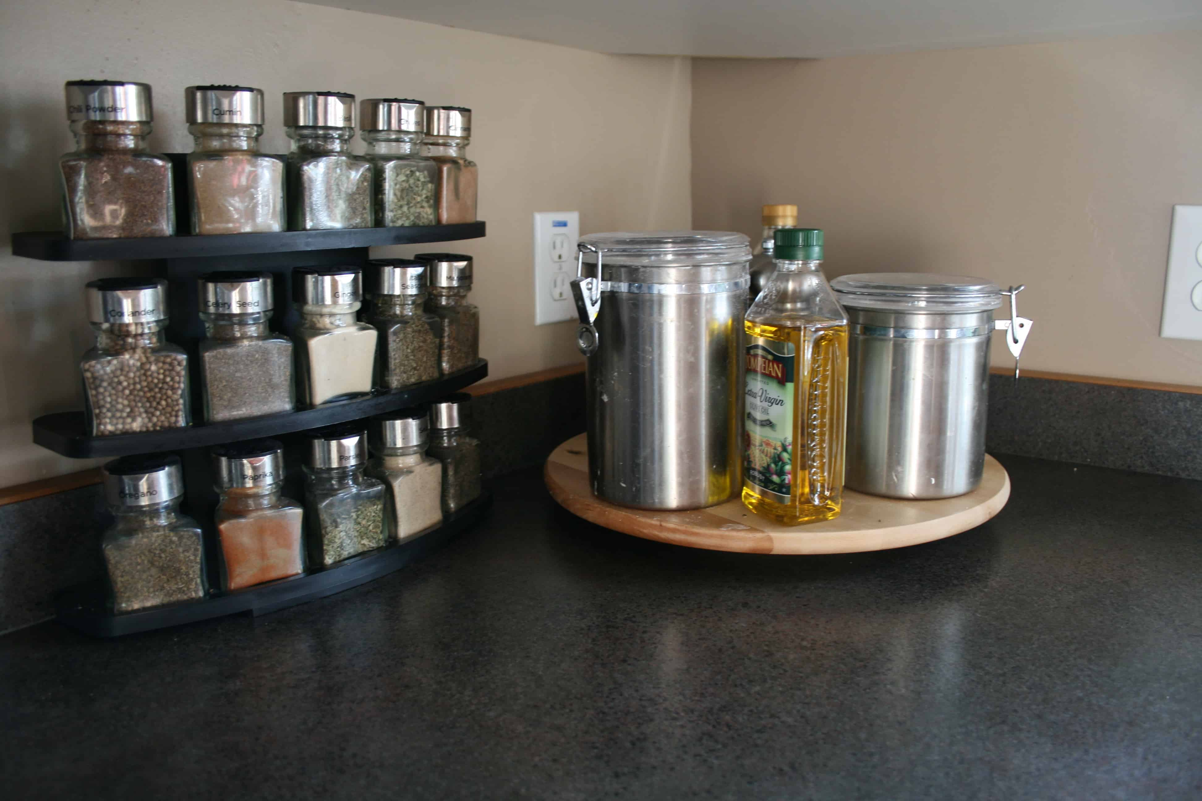 kitchen lazy susan design ideas storage the organized mom you can also use a inside your