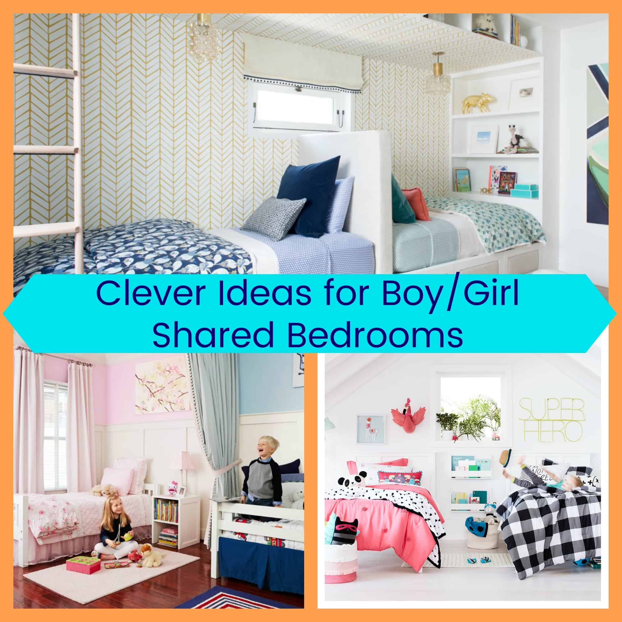 Clever Ideas for BoyGirl Shared Bedrooms  The Organized Mom