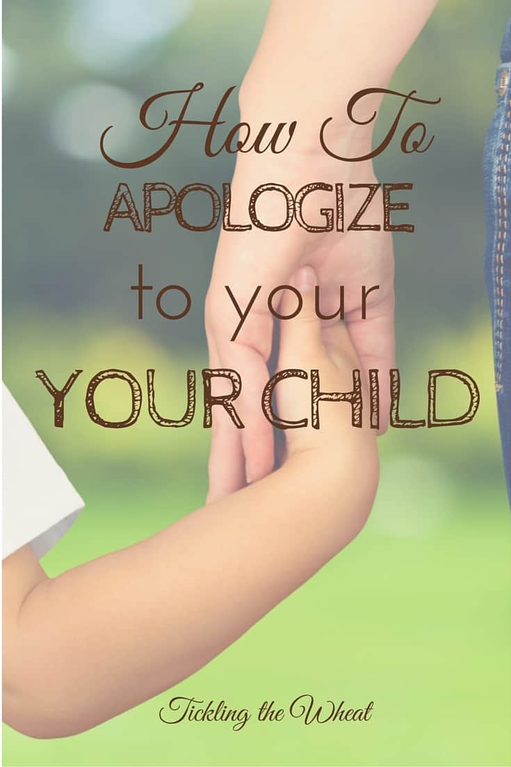 Have you ever lost your temper only to see your child watching you? If you need to apologize to your child, here are some great tips to make it effective.