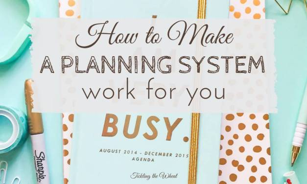 How to Use a Planning System Effectively