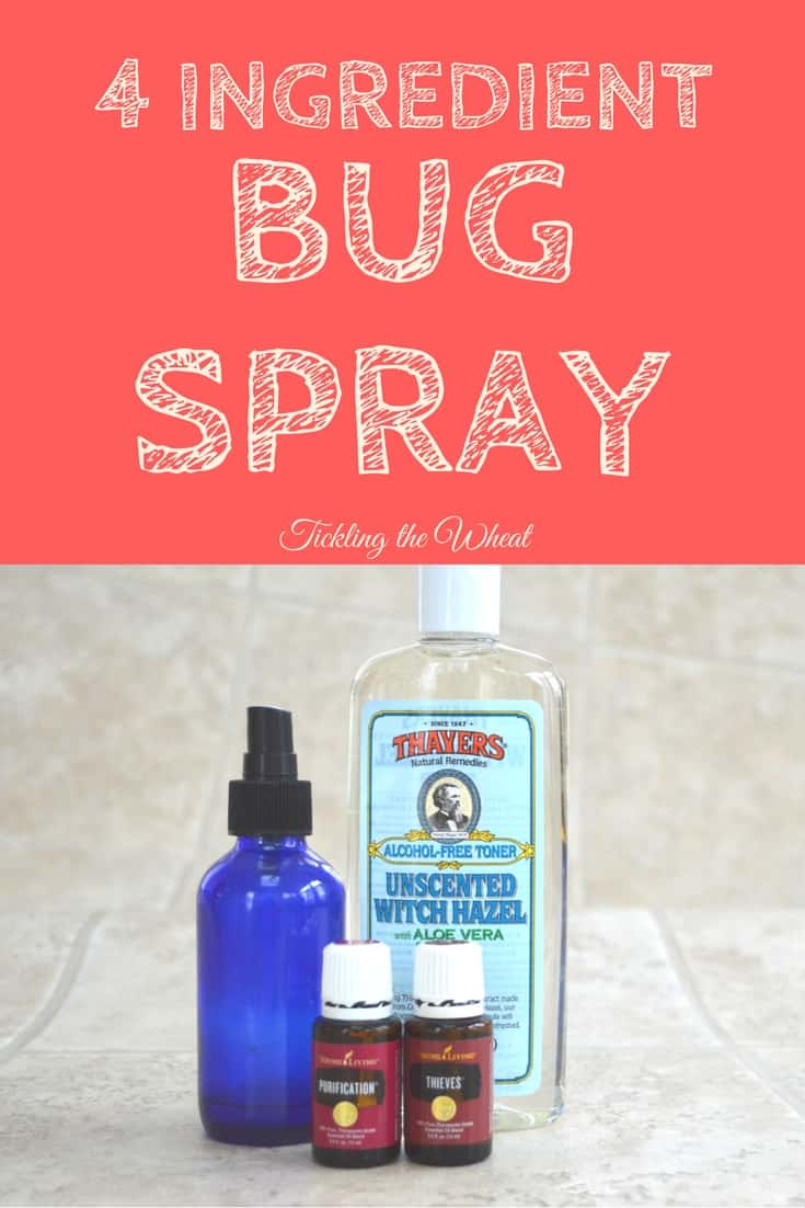 I love this simple-to-make bug spray. It's natural and only uses 4 ingredients. It's also kid-friendly.
