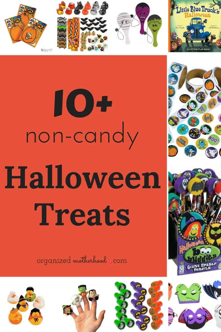 My kids have food allergies, so I'm always looking for non-candy ideas for trick-or-treats. This list of Halloween treat ideas is perfect!