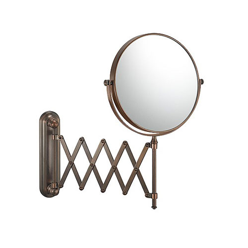 Bronze Extension Arm Mirror in Wall Mirrors