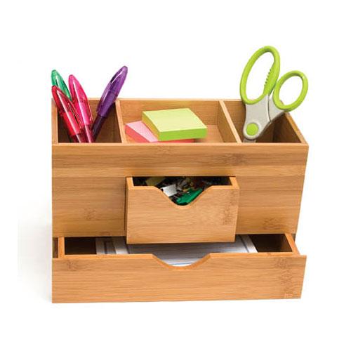 Bamboo ThreeTier Desk Organizer in Desktop Organizers