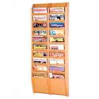 Magazine Rack - 20 Pocket in Wall Magazine Racks