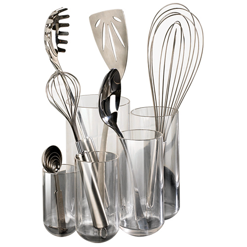 kitchen utensils holder bathroom and remodeling acrylic utensil in holders