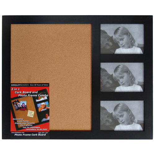 Cork Board and Photo Frame in Memo and Bulletin Boards