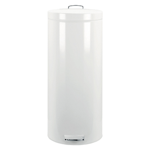 stainless kitchen trash can remodeling philadelphia brabantia pedal bin - 30l white in steel ...