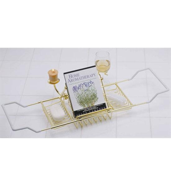 Aromatherapy Bathtub Caddy Polished Brass In Tub Caddies