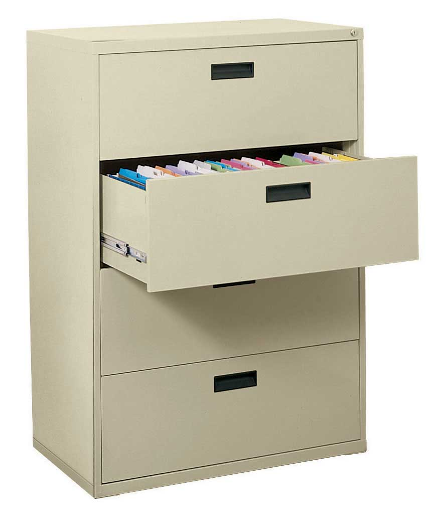4 Drawer Lateral File Cabinet in File Cabinets