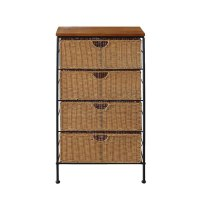 4 Drawer Wicker Wire Cabinet in Storage Drawers