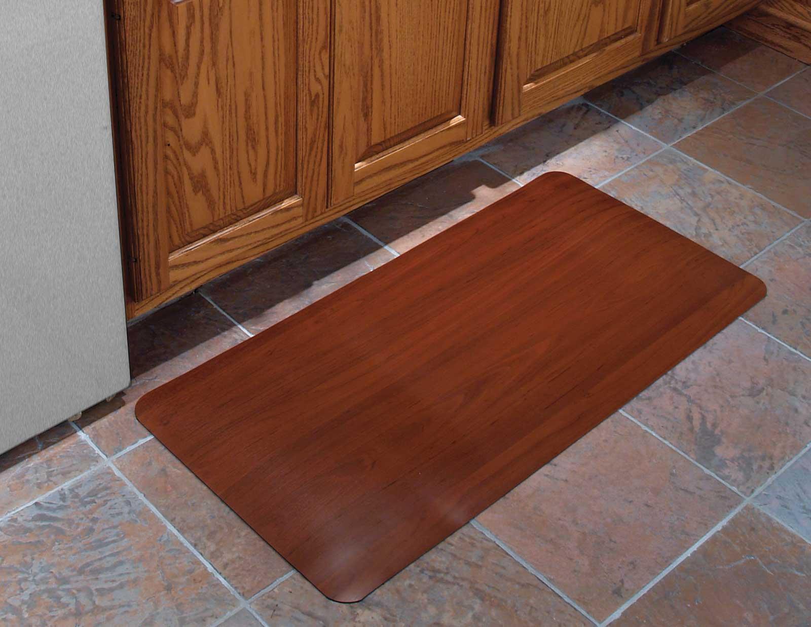 kitchen comfort floor mats banquette 24x36 inch cushioned mat - wood grain in