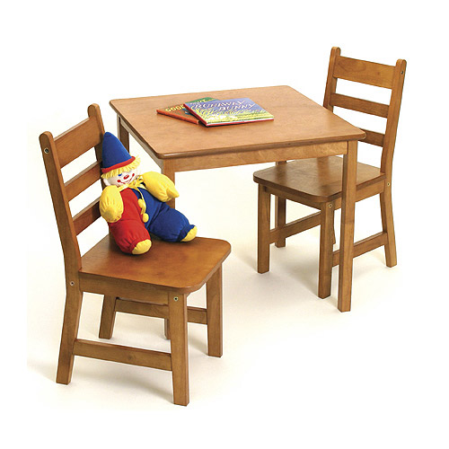 Childrens Wooden Table and Chairs  Pecan in Kids Furniture