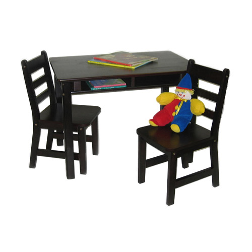 kids table and chair set espresso in