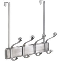 Over the Door Coat Rack - Chrome in Over the Door Hooks