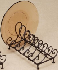 Plate Holder - Wrought Iron - 6 Plate in Decorative Plate ...