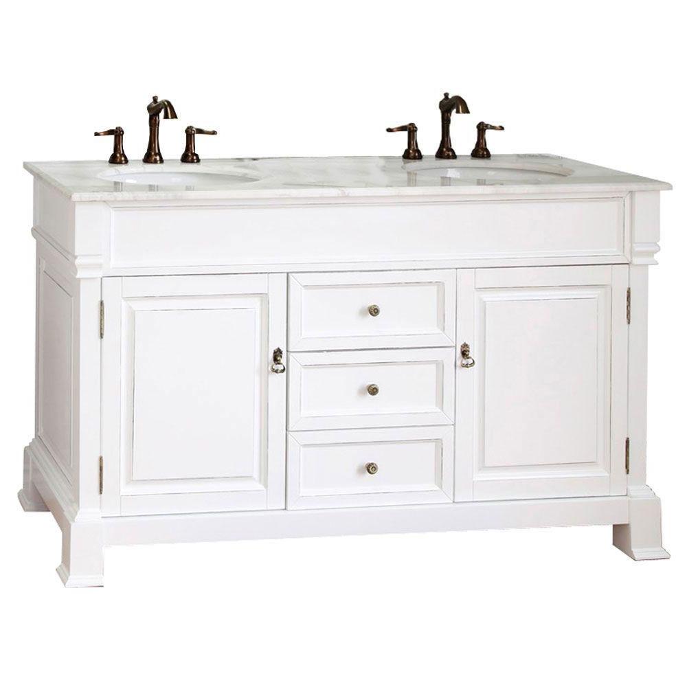 60 Inch Traditional Double Sink Vanity in Bathroom Vanities