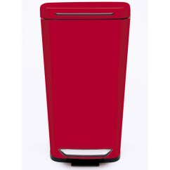 Red Kitchen Trash Can Wood Counters Oxo Steel In Stainless Cans Image