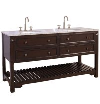 68 Inch Raised Double Sink Vanity in Bathroom Vanities