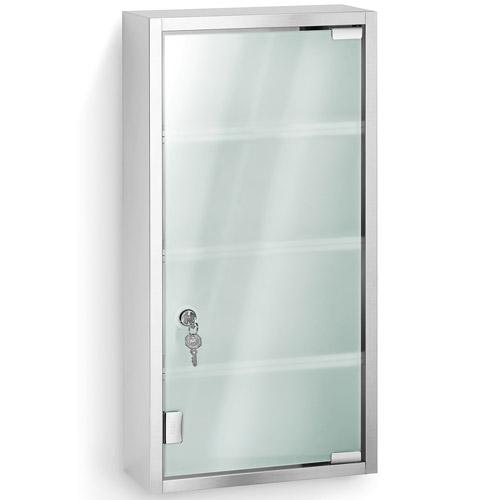 Stainless Steel Locking Medicine Cabinet in Bathroom