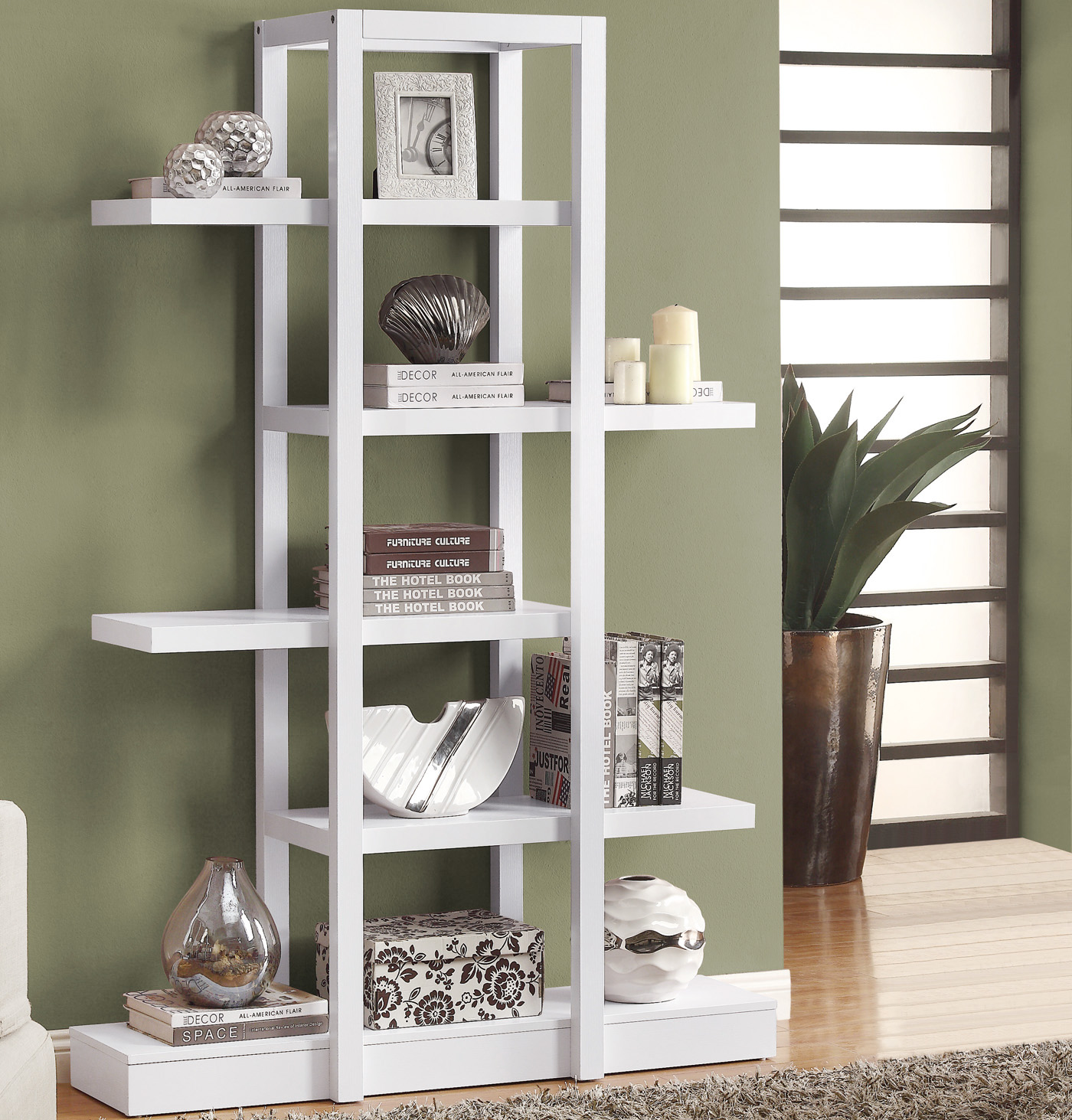 Open Concept Shelf Display Etagere In Bookcases
