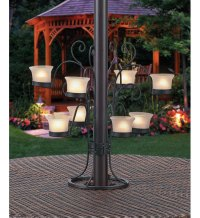 Patio Umbrella Eight Votive Candle Holder in Patio Furniture