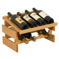 Wood Wine Rack - 8 Bottle Display in Wine Racks
