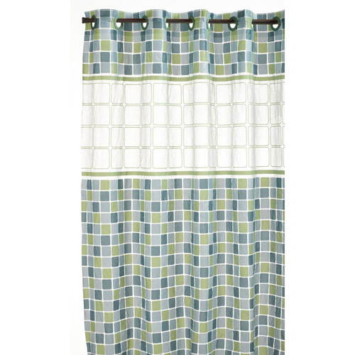 Hookless Shower Curtain  Mosaic Jade in Shower Curtains