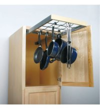 Roll Out Pot and Pan Hanger in Pull Out Cabinet Shelves