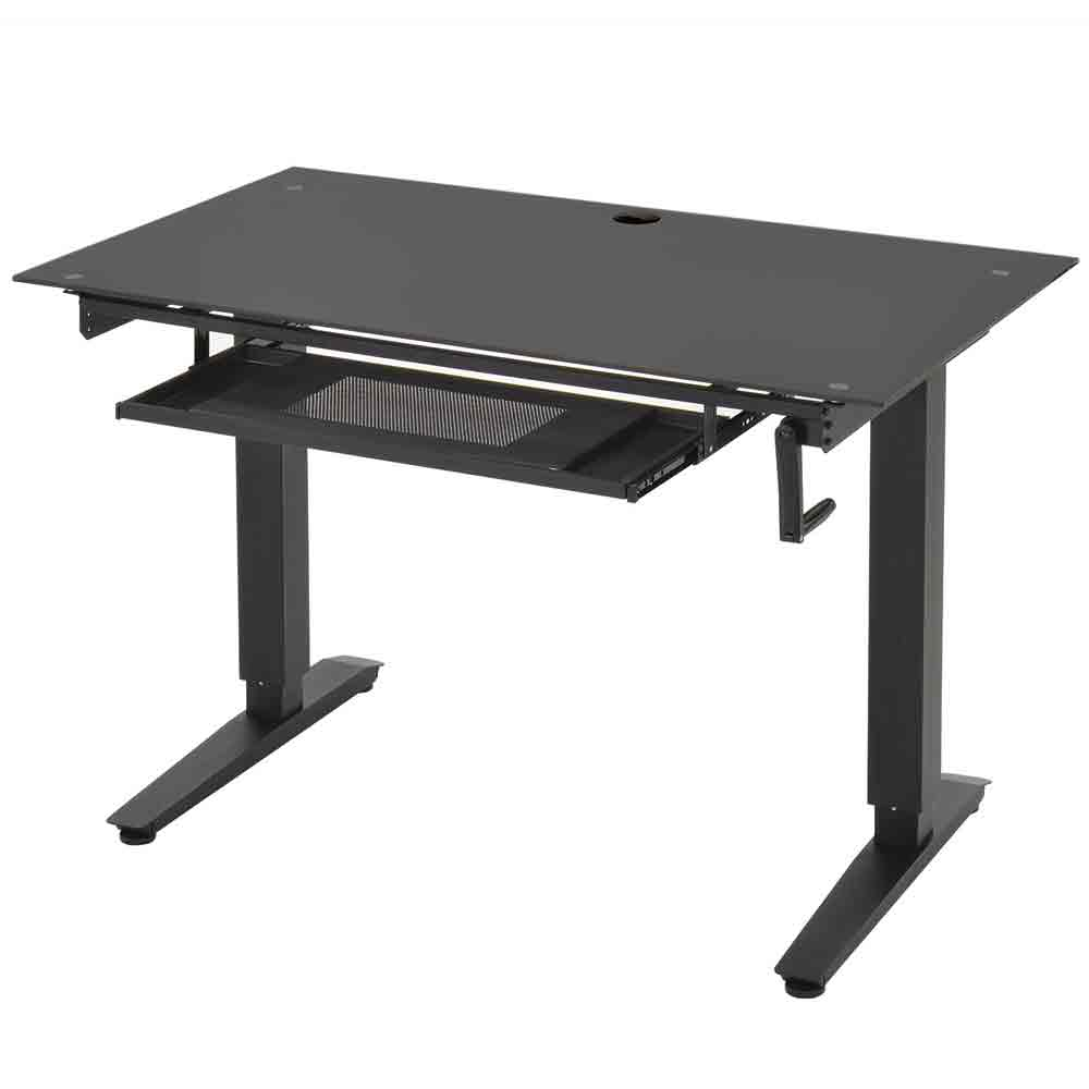 Adjustable Standup Desk Glass in Desks and Hutches
