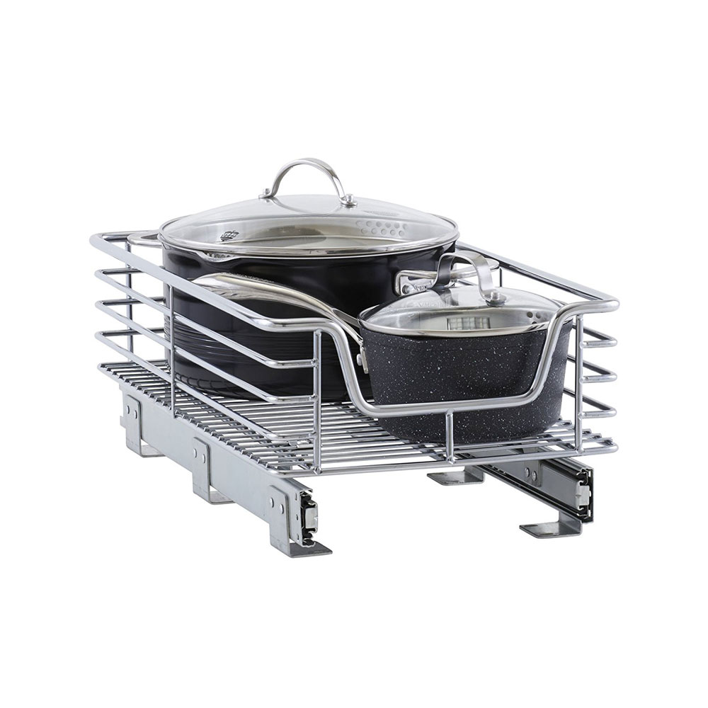 12 Inch Wide Sliding Cabinet Organizer in Pull Out Baskets