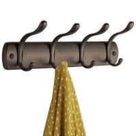 4 Hook Coat Rack - Bronze in Wall Coat Racks