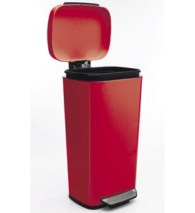 red kitchen trash can viva towel oxo steel in stainless cans image click any to view high resolution