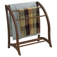 Quilt Display Stand Antique Style - Walnut in Quilt Racks