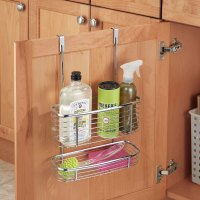Axis Chrome Over Cabinet Storage Basket and Tray in ...