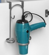 Blow Dryer and Flat Iron Holder - Satin Nickel in Hair ...